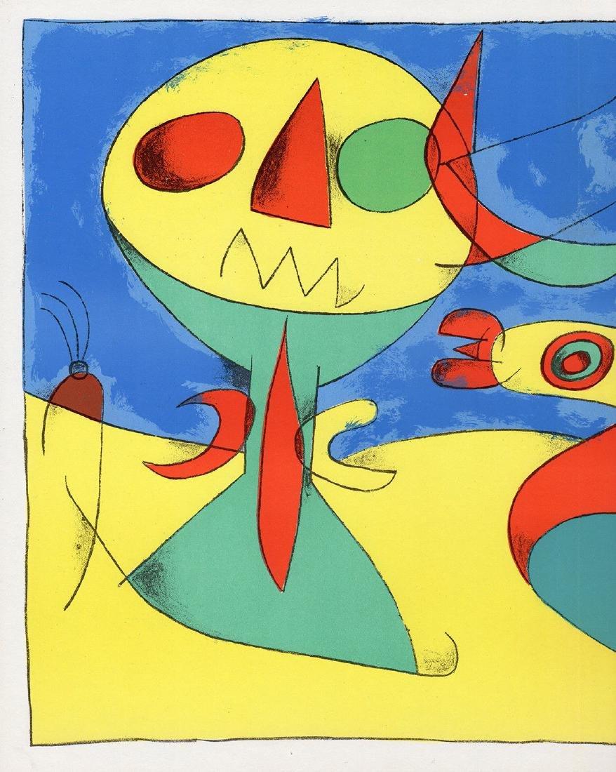 1956 Joan Miro Original Lithograph M227 Zephyr Bird - 2
