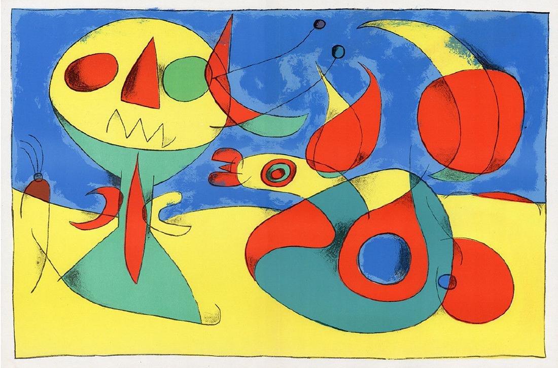 1956 Joan Miro Original Lithograph M227 Zephyr Bird - 4