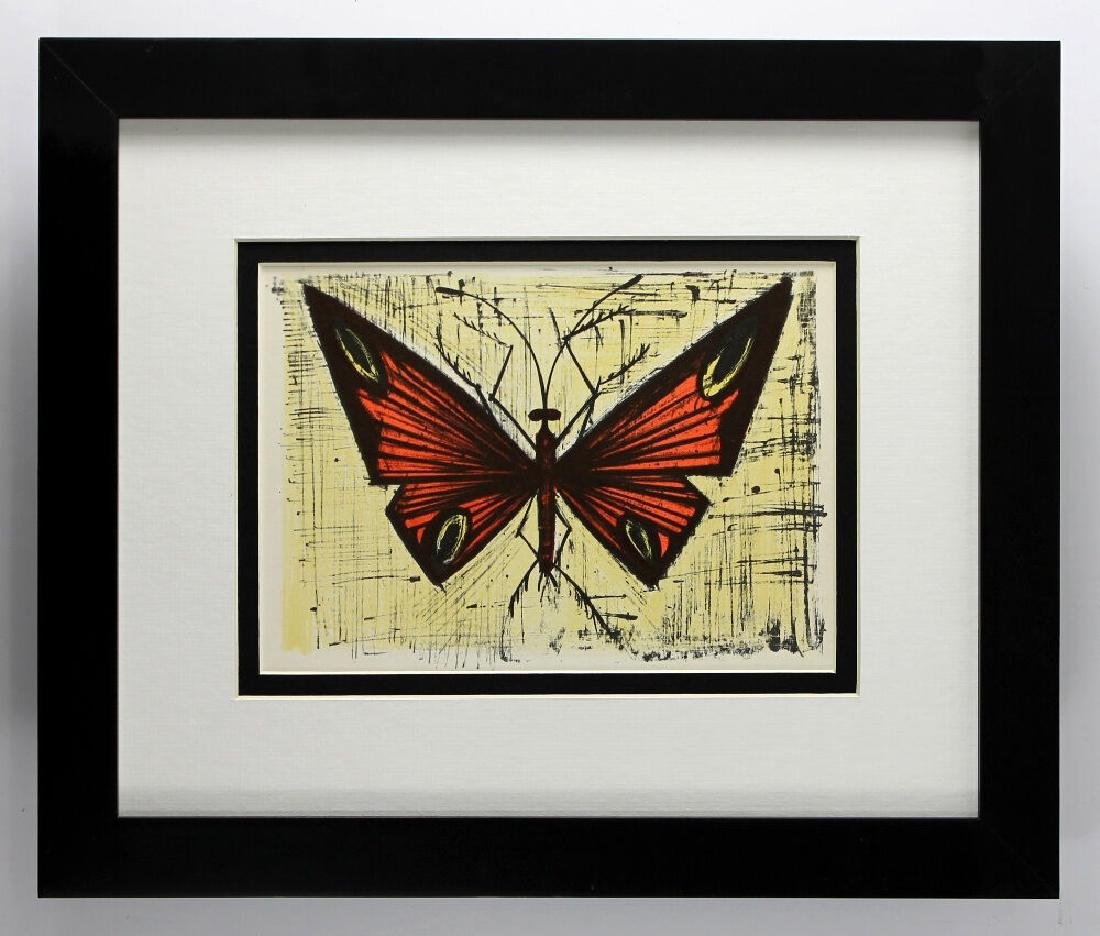 Bernard Red and Yellow Butterfly 1967 lithograph