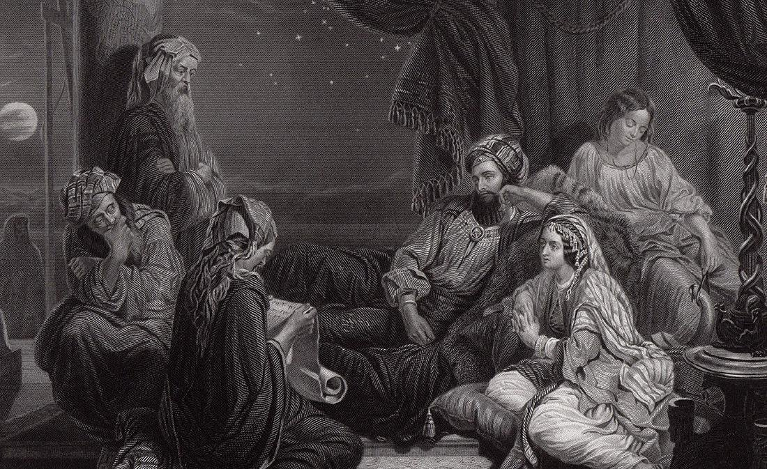 Henry Nelson Ahasuerus engraving signed 1867 - 3