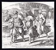 Raphael 1649 Engraving Vatican Sodom and Gomorrah