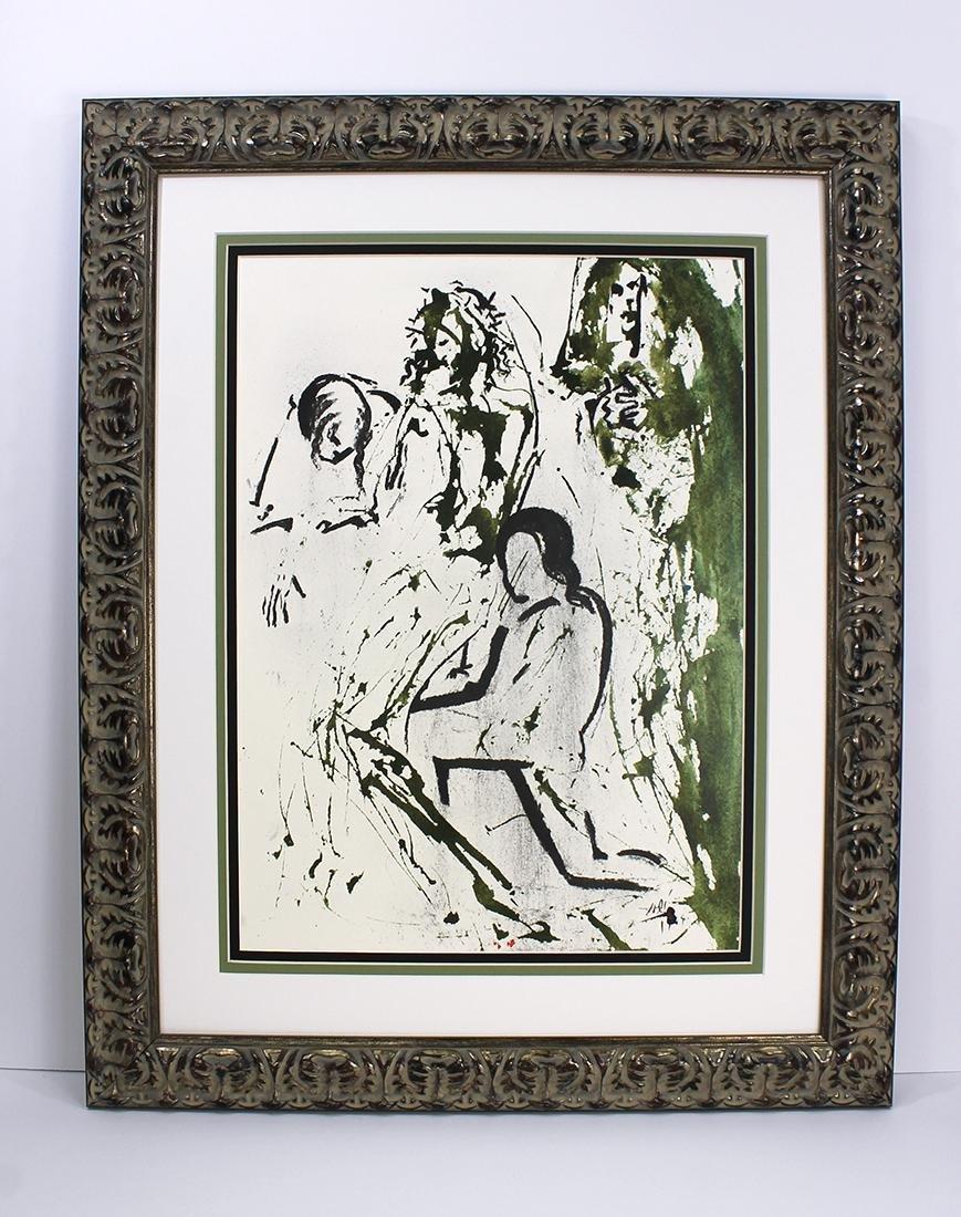 Salvador Dali Ressurection 1967 Original Lithograph