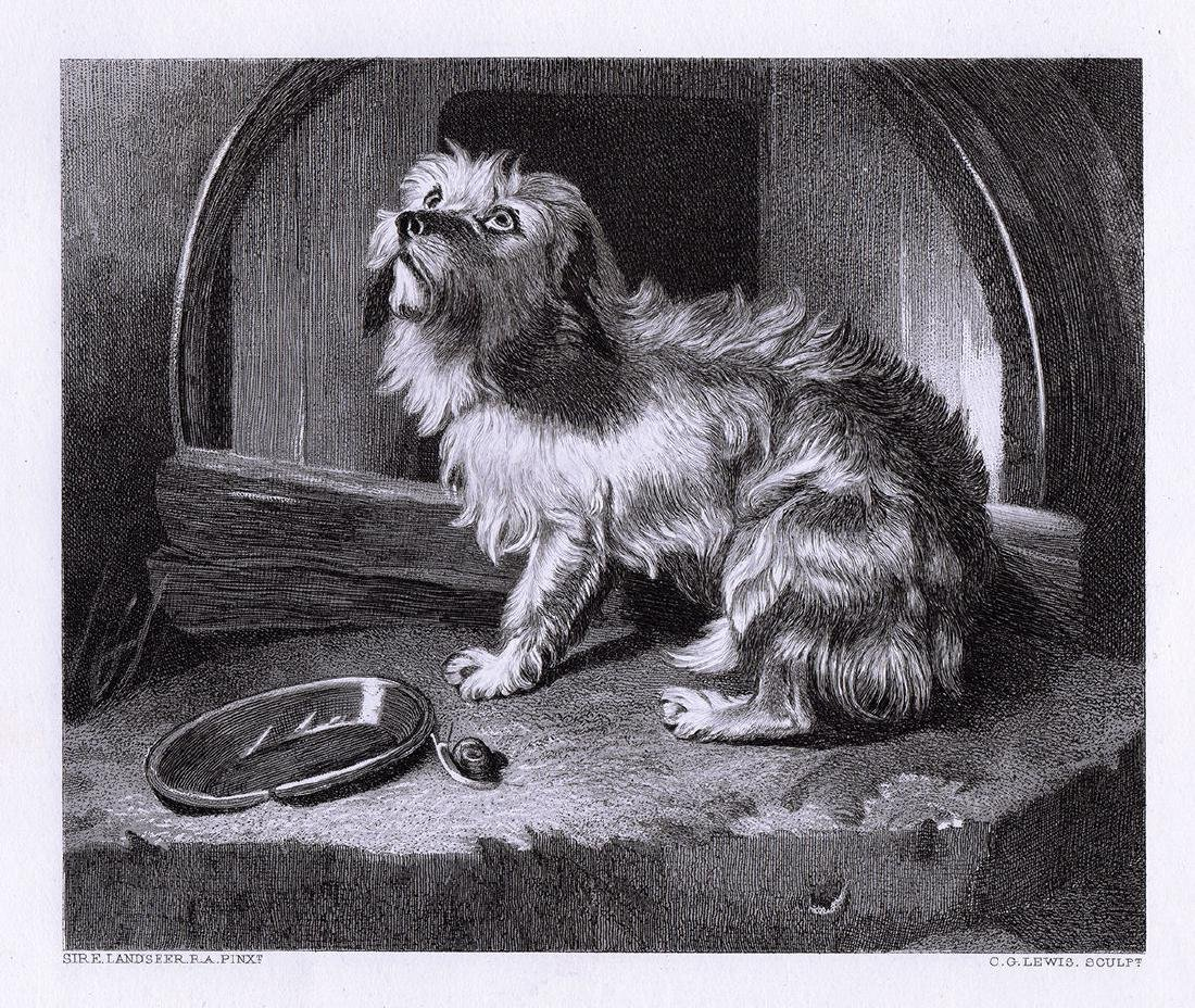 Sir E.H. Landseer No Place Like Home 1878 engraving