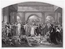 Benjamin West Christ Rejected engraving signed