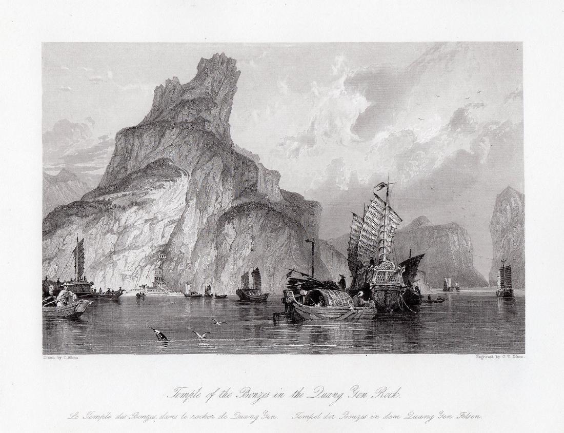 Thomas Allom  Quang Yen Rock 1843 engraving