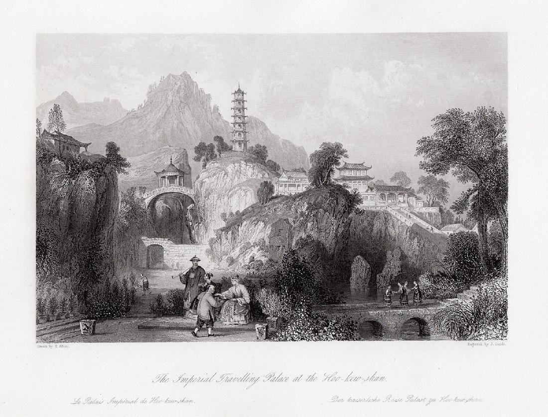 Thomas Allom Imperial Palace engraving signed