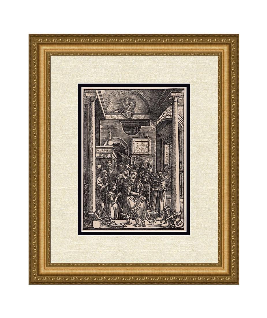 Albrecht Durer Virgin Worshipped by Angels 1800's