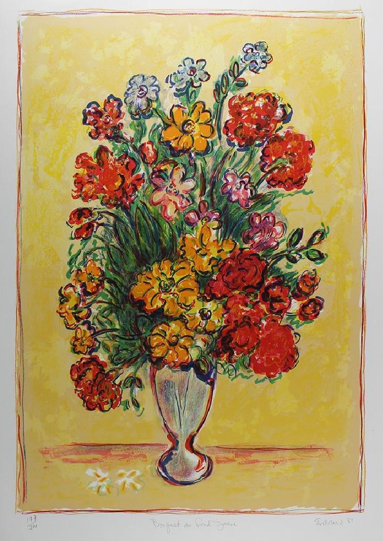 Wayne Ensrud Bouquet lithograph signed