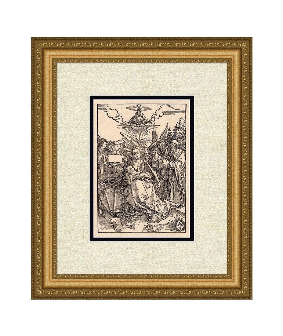 Albrecht Durer Madonna Joseph Angels woodcut
