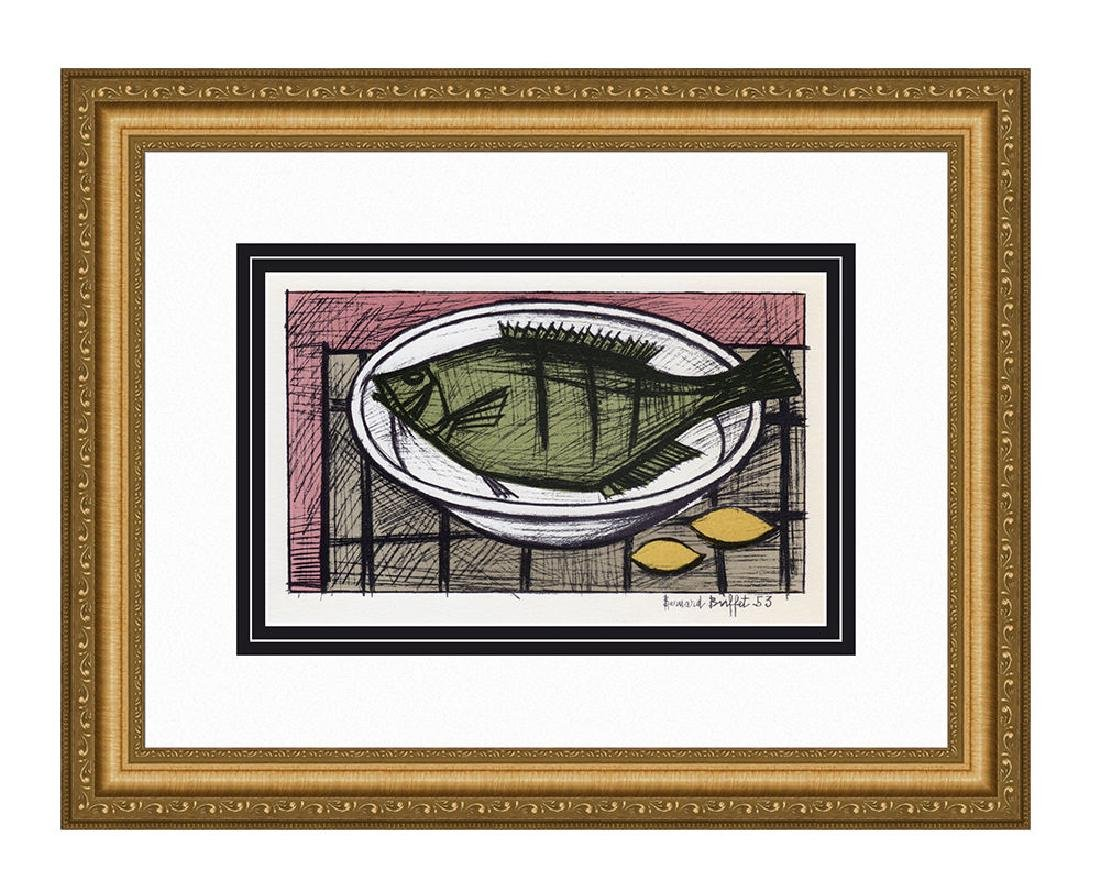 1967 Bernard Buffet Fish lithograph signed