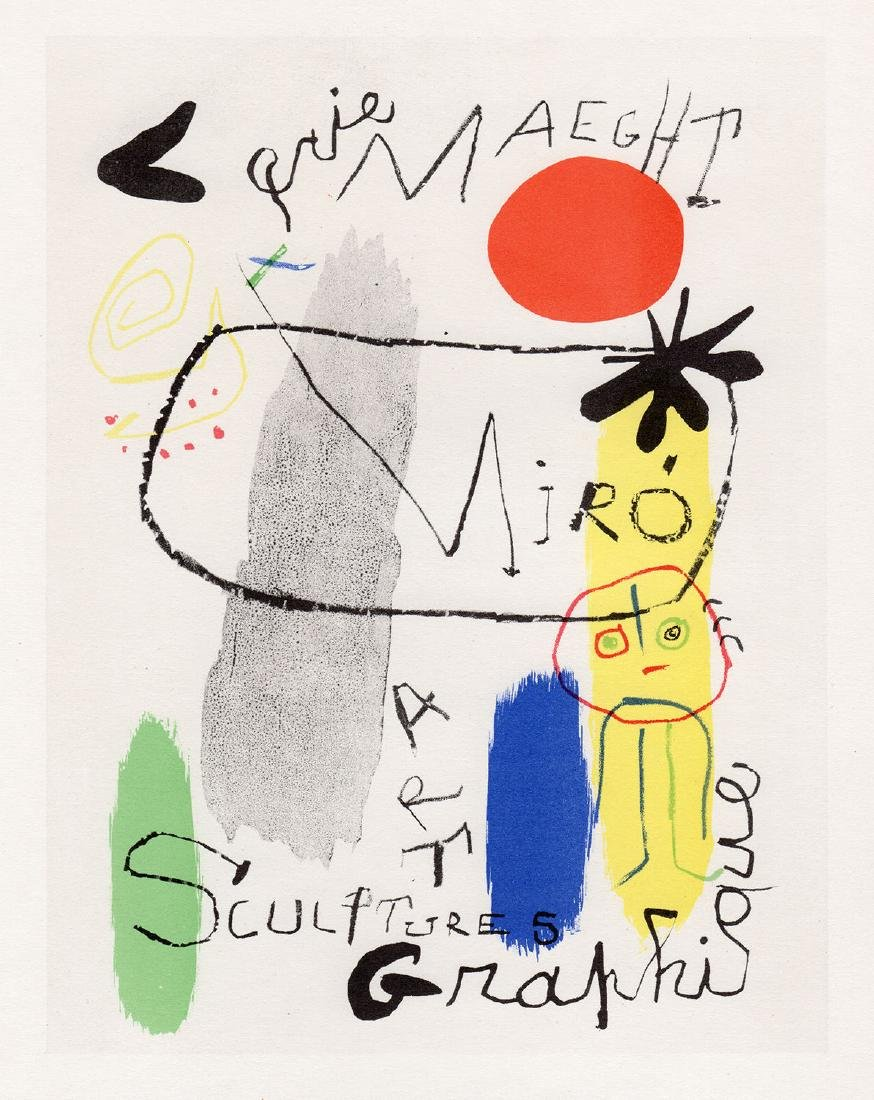 Joan Miro Art Graphique lithograph signed