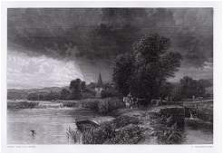 George Vicat Cole Showery Weather engraving signed