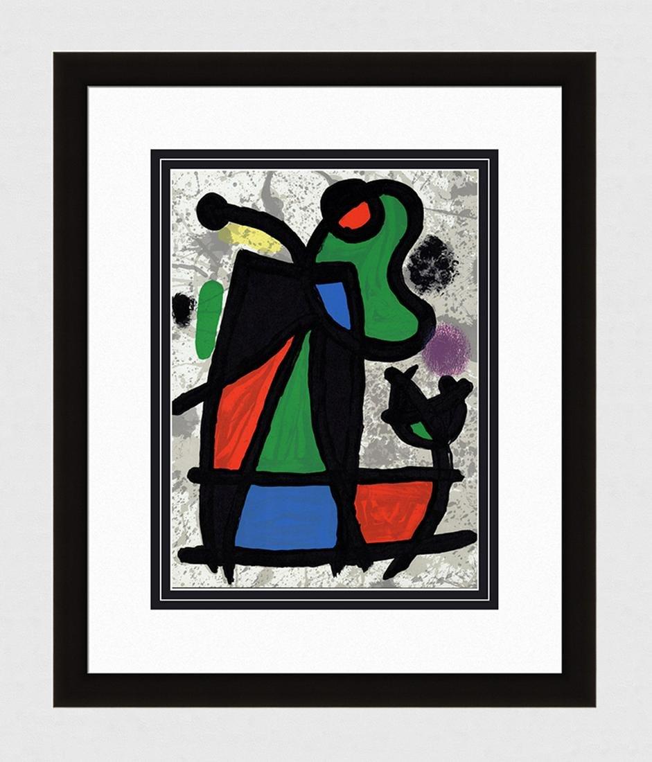 1970 Joan Miro Abstract Lithograph Sculptures II
