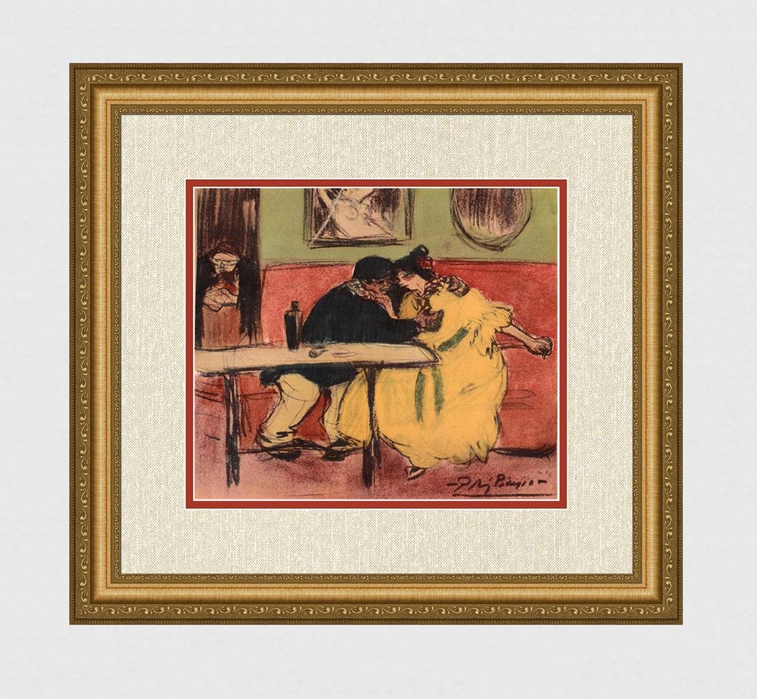 "1963 Pablo PICASSO Pochoir ""The Sofa"" Limited Bleus en"