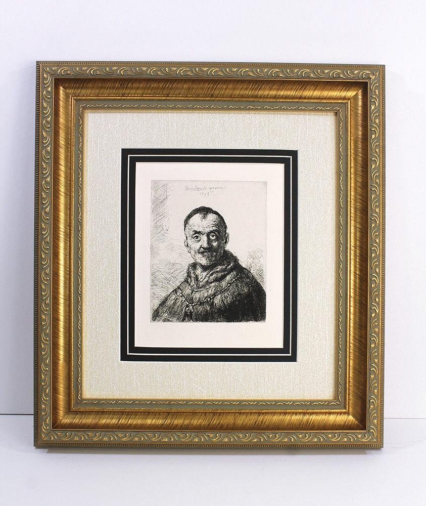 Rembrandt First Oriental Head etching signed