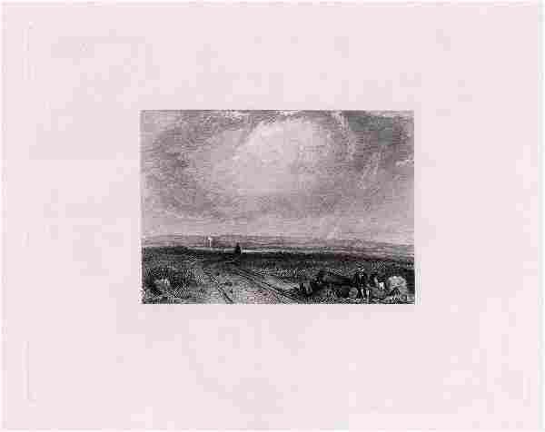 Richard Bonington Winding Road 1889 engraving