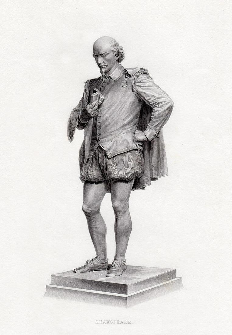 John Quincy Adams Ward Shakespeare 1878 engraving