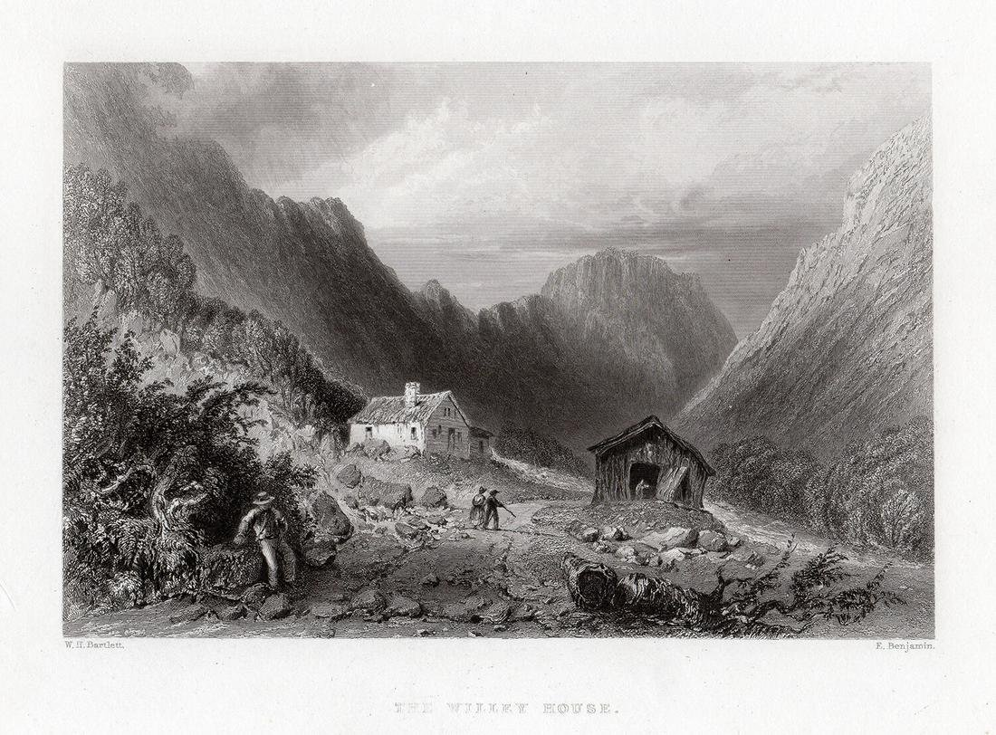 William Henry Bartlett 1838 engraving The Willey House