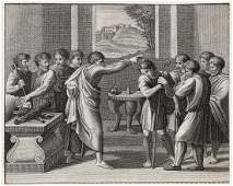 Raphael David Anointed by Samuel 1818 engraving