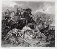1876 Sir Edwin Henry Landseer ChevyChase engraving