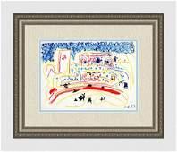 Pablo Picasso 1961 Mourlot Color Lithograph Toros y