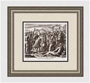 Raphael 1649 Engraving Vatican Solomon Anointed