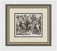 Raphael 1649 Engraving Vatican Jacob Flees with his
