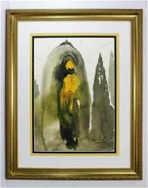 Salvador Dali 1967 Original Psalm of David Framed