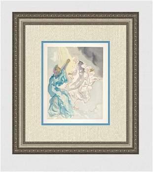 1960 Salvador Dali New Beatrice Original Woodcut