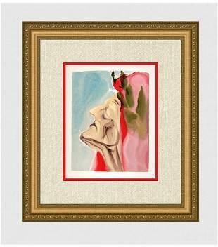 1960 Salvador Dali New Doubt Original Woodcut