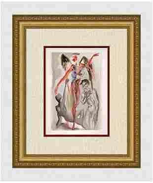 1960 Salvador Dali Barthly Paradise Original Woodcut