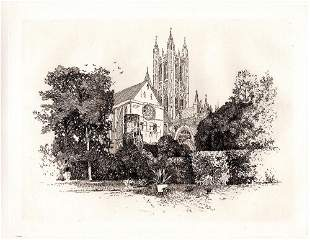 Joseph Pennell Canterbury Cathedral 1885 etching