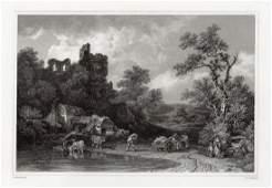Philip James de Loutherbourg Landscape and Figures 1834