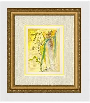 1960 Salvador Dali Glorious Bodies Original Woodcut
