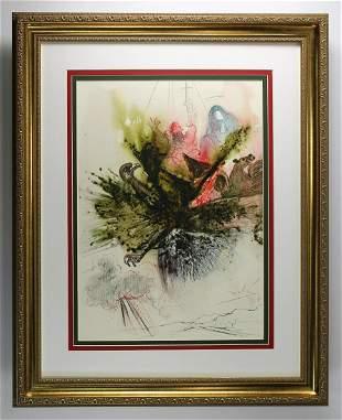 Salvador Dali Original Vision of Four 1967 Framed
