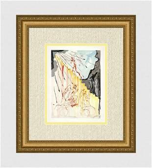 1960 Dali Mystic ladder Original Woodcut