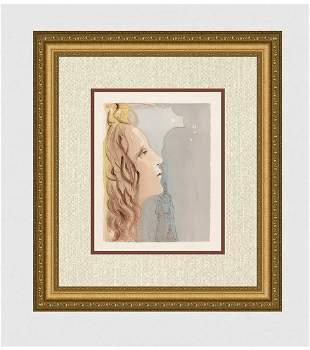 1960 Salvador Dali Beauty Original Woodcut