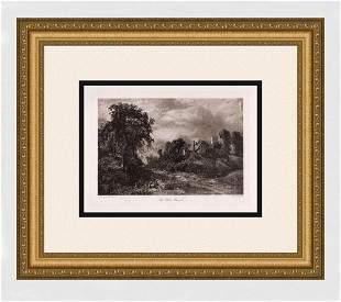 John Constable The Glebe Farm Antique Print signed