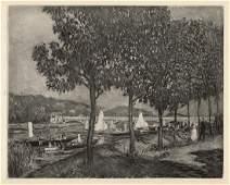 """Pierre Auguste RENOIR 1919 Limited Engraving """"Bridge at"""