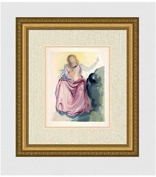 1960 Salvador Dali Beatrice Original Woodcut