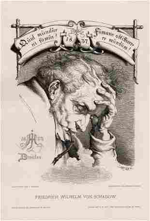 1887 Julius Hubner Friedrich Wilhelm Von Schadow