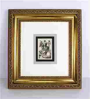Barthel Beham Fortune Antique engraving Framed