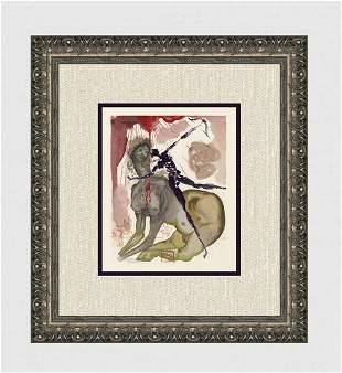 1960 Salvador Dali Minotaur Original Woodcut Signed