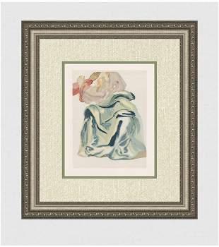1960 Salvador Dali Prayer Original Woodcut