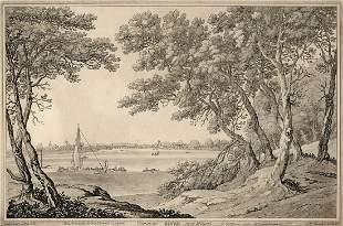 Joseph Farington 1793 Aquatint Milbank SIGNED FRAMED