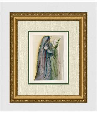 1960 Salvador Dali Final Prayer Woodcut