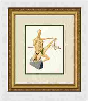 1960 Salvador Dali Minos Original Woodcut