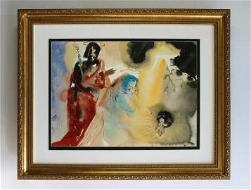 Salvador Dali The Holy Family 1967 Original Framed