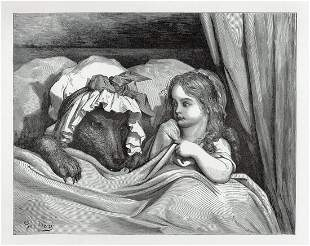 Gustave Dore Little Red Riding Hood II 1880 Woodcut