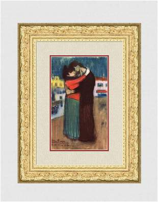 """Rare 1963 Pablo PICASSO Pochoir """"The Lovers"""" Limited"""